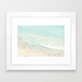 beach summer fun Framed Art Print
