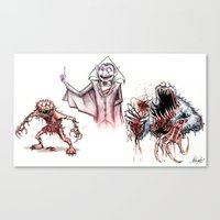 muppets Canvas Prints featuring Horror Muppets by The Art of Austen Mengler