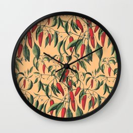 red wild fruits Wall Clock