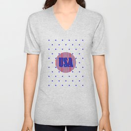 USA Design Unisex V-Neck