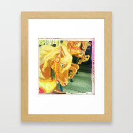 Golden Stallions Framed Art Print