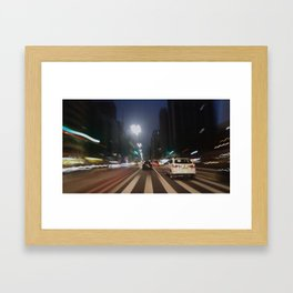 Road to the end Framed Art Print