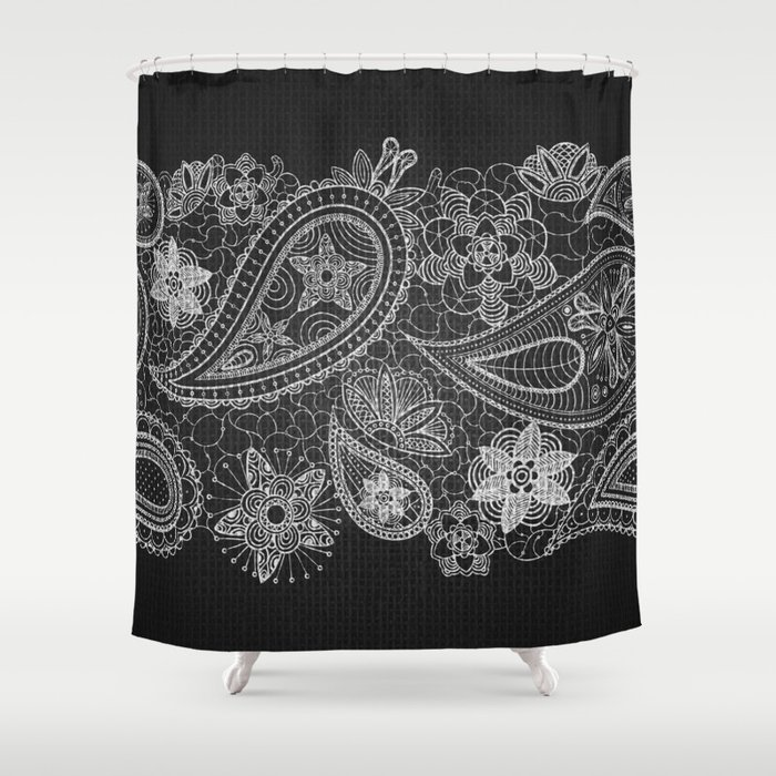 Lace Shower Curtain By Folknfunky