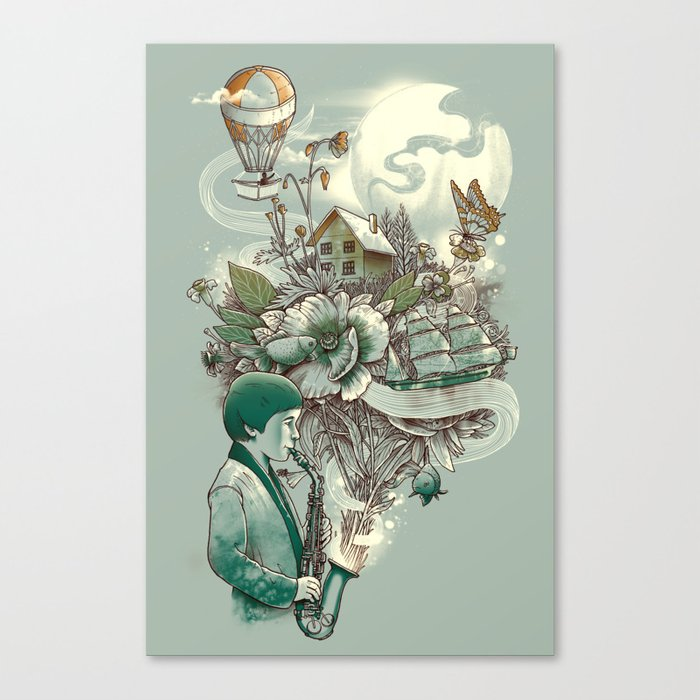 'In Tune with Nature' Canvas Print