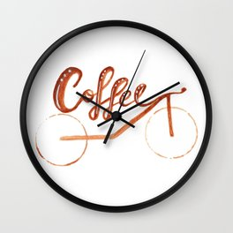 Coffee Ride Wall Clock