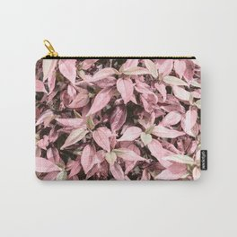 #Pink Foliage #nature #abstract Carry-All Pouch