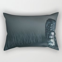 Annie in the Fields of Melancholy Rectangular Pillow