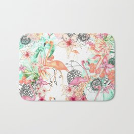 TROPICAL FlAmINGOS Bath Mat