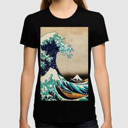 The Great Wave Off Kanagawa Traditional Japanese Landscape T-shirt