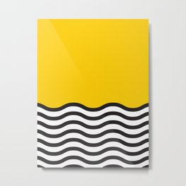Waves of Yellow Metal Print
