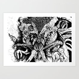 Dag gone it Dagon Art Print
