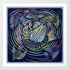 Bird swirl Art Print