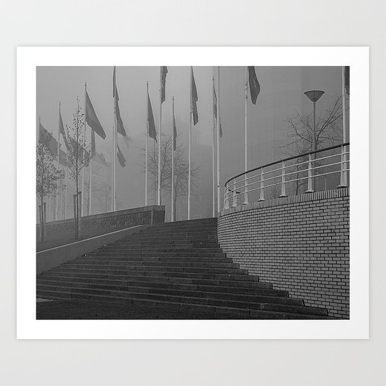 Stairs to leave silence.... Art Print