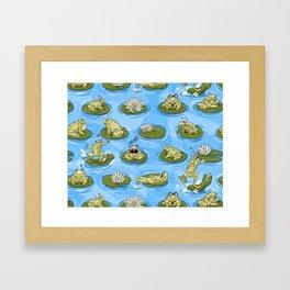 Froggy Fun Framed Art Print