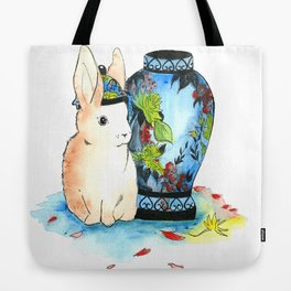 Lapin Chinoiserie Tote Bag