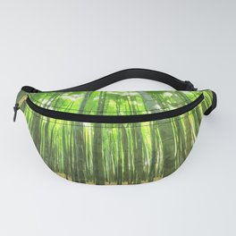 Bamboo Forest Illustration Fanny Pack