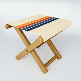 Classic Retro Stripes Folding Stool