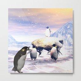 Funny penguins Metal Print