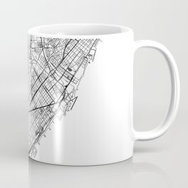 Barcelona White Map Coffee Mug