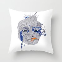 popart Throw Pillows featuring PopArt by Ina Spasova puzzle