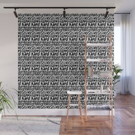 shiny happy people x typography Wall Mural