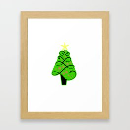 Christmas tree ornaments shirt Framed Art Print