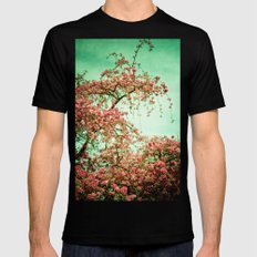 Flowers Touch the Sky Mens Fitted Tee Black MEDIUM