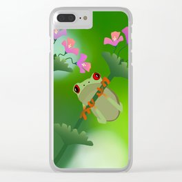 Just Hanging Around Clear iPhone Case