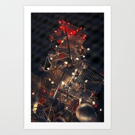 Shopping Cart Christmas Tree in Hollywood - day two color Art Print