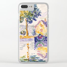 """Paul Signac """"View of the Seine, Samois"""" Clear iPhone Case"""