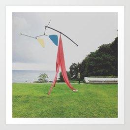 Sculpture Overlooking Øresund Art Print