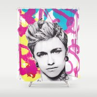 jake Shower Curtains featuring Jake Bass by GREATeclectic