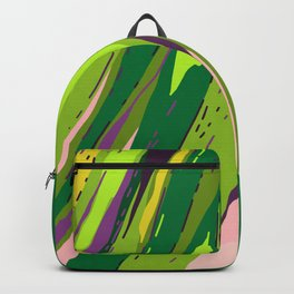 Too Close for Comfort - Tropical Palm Leaves Illustration Backpack