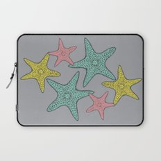 Starfish gray background Laptop Sleeve