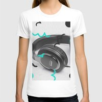 headphones T-shirts featuring Headphones by Oliver Green