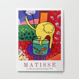 Henri Matisse The Cat With Red Fish  Metal Print