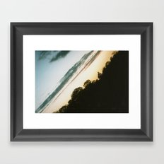 Diagonal (Norfolk) Landscape Framed Art Print