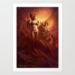 A Princess of Mars Art Print
