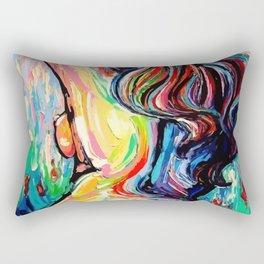 Painting of natural woman Rectangular Pillow