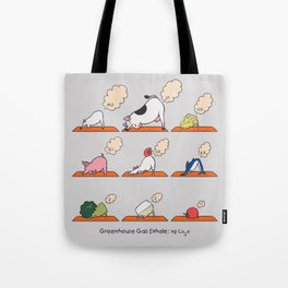 Greenhouse Gas Exhale Tote Bag