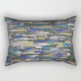 Speeding Past the City Rectangular Pillow