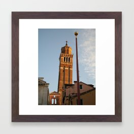 Leaning Tower Framed Art Print