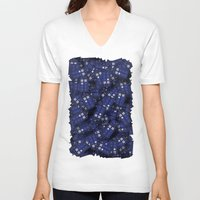 doctor V-neck T-shirts featuring Tardis by 10813 Apparel