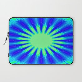 Aqua Starburst Laptop Sleeve