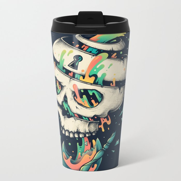 Fragile Delusion of Life and Death Metal Travel Mug