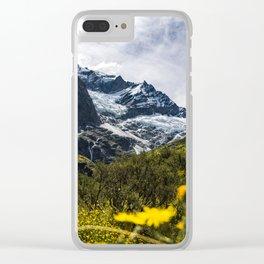 Flower Glacier Clear iPhone Case