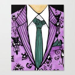 Haunted Suit Canvas Print