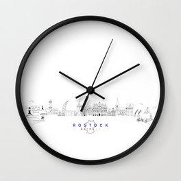 Skyline Rostock Wall Clock