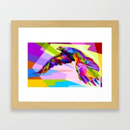 Colorful Eagle Illustration Framed Art Print