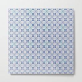 indigo clover tiles Metal Print